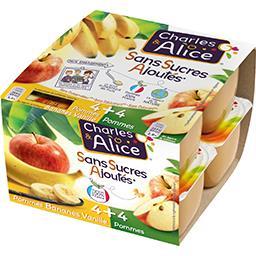 Dessert de fruits pommes bananes vanille/pommes