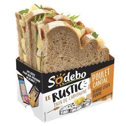 Le Rustic - Sandwich pain de campagne poulet cantal