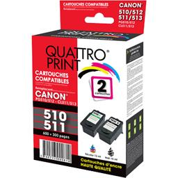 Pack cartouches d'encre compatibles Canon PG-512/CLI...