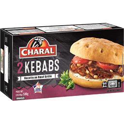 Charal Charal Kebab les 2 kebabs de 250 g