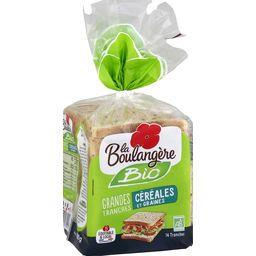 La Boulangère La Boulangère Pain de mie céréales et graines BIO le paquet de 14 tranches - 500 g