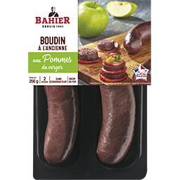 Regis Bahier Bahier Boudin noir à l'ancienne aux pommes du verger la barquette de 2 - 250 g