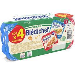 Blédina Blédina Assortiment légumes lieu/ légumes volaille, dès 18 mois les 4 barquettes de 250 g
