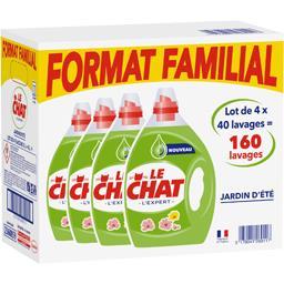 Le Chat L'Expert - Lessive liquide Jardin d'été le lot de 4 bidons de 2 l -