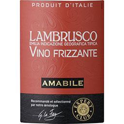 Vin pétillant Lambrusco Amabile brut, vin rouge