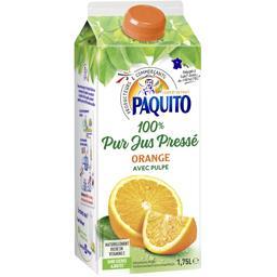 100% pur jus pressé d'orange avec pulpe