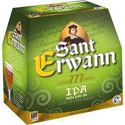 Sant Erwann Bière de type abbaye IPA les 6 bières de 25 cl