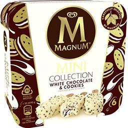 Magnum Magnum Glace mini - chocolat blanc et cookies la boite de 6 bâtonnets - 270g
