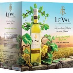 Le Val Vin de pays d'Oc sauvignon, vin blanc la fontaine de 2,25 l