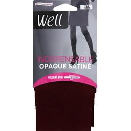 Indispensable - Collant opaque satiné noir T1/2