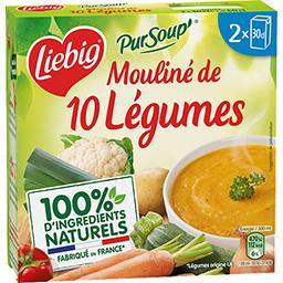 Liebig Liebig Pur'Soup - Soupe mouliné de 10 légumes les 2 briques de 30 cl