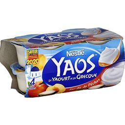 Yaos - Le Yaourt à la Grecque sur lit de pêches