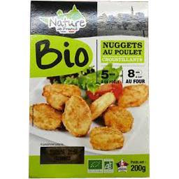 Nature de France Nature de France Nuggets de poulet BIO croustillants la boite de 200 g