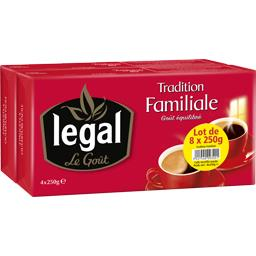 Legal Legal Café moulu Tradition familiale les 4 paquets de 250 g