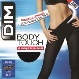 Body touch - collant opaque noir taille 1