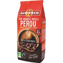 Alter Eco Alter Eco Café moulu pur arabica Pérou BIO & équitable le paquet de 260 g