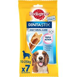 Pedigree Pedigree Dentastix - Sticks Daily Oral Care pour chiens 10-25 kg le sachet de 7 - 180 g
