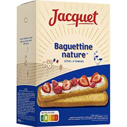 Baguettine au blé tendre, tranches de pain grillé longues et croustillantes x24, le paquet,JACQUET,
