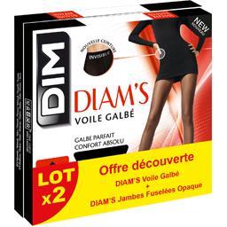 Collants Diam's voile galbé/jambes fuselées opaque T...
