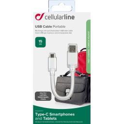 Câble plat data + charge court USB C