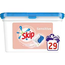 Skip Skip Capsules de lessive Double action Sensitive la boite de 29 capsules - 698 g