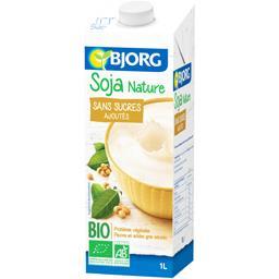 Bjorg Bjorg Boisson soja nature sans sucres ajoutés BIO la brique de 1 l