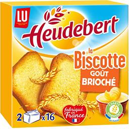 LU Heudebert Biscottes goût brioché la boite de 290 g