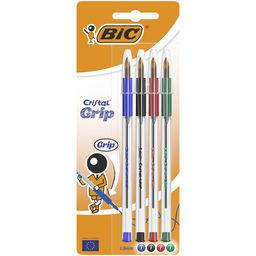 Stylo bille Cristal Grip 1,0 mm assortis