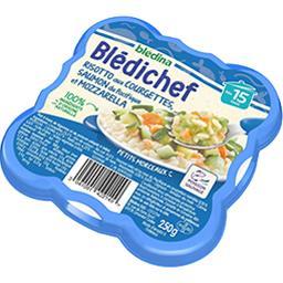 Blédina Blédina Blédichef - Risotto aux courgettes saumon & mozzarella, dès 15 mois l'assiette de 230 g