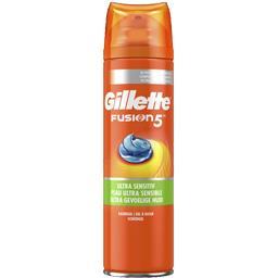Gillette Gillette Fusion5 - ultra peaux sensibles - gel à raser homme La bombe de 200 ml