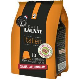 Café Launay Capsules de café Italien le paquet de 10 - 53 g