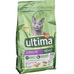 Ultima Ultima Croquettes au saumon pour chats stérilisés le sac de 1,5 kg