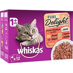 Whiskas Les Marmiton en Gelée sélection classique pour chats