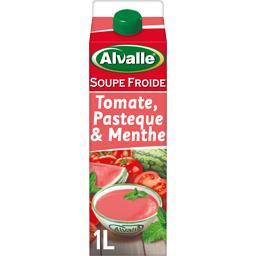 Soupe froide tomate pastèque & menthe