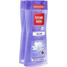 Pétrole Hahn Shampooing doux Relax lotus blanc et pro-vitamine B5 les 2 flacons de 250 ml