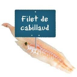 Filet de CABILLAUD
