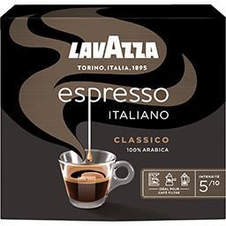 Lavazza Lavazza Classico - Café moulu 4 torréfaction légère L'Espresso Italiano les 2 paquets de 250 g