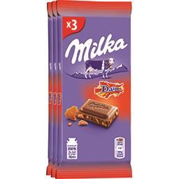 Milka Milka Chocolat au lait Daim les 3 tablettes de 100 g