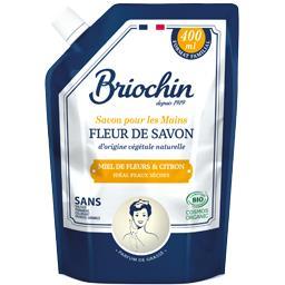 Briochin Fleur de Savon - Savon mains miel de fleurs & citron la recharge de 400 ml