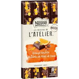 Nestlé Nestlé Chocolat Les Recettes de l'Atelier - Chocolat noir orange confite la tablette de 195 g