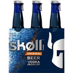Skoll Skoll Bière aromatisée vodka & agrumes les 3 bouteilles de 33 cl