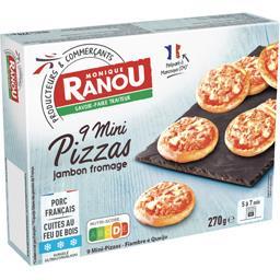 Mini pizzas jambon fromage