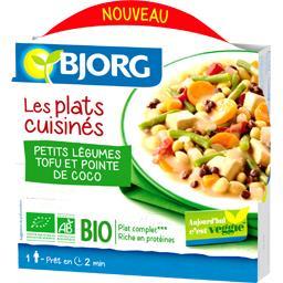 Plat cuisiné légumes tofu coco Bjorg