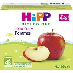 100% Fruits - Pommes BIO, dès 4/6 mois