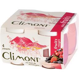 Yaourts aux fruits rouges, fraises-framboises-griottes-myrtilles? au lait de montagne entier pasteurisé