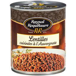 Raynal & Roquelaure Raynal et Roquelaure Lentilles cuisinées à l'Auvergnate la boite de 820 g