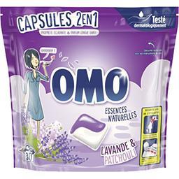 Omo Omo Capsules de lessive 2en1 douceur de fleurs le sachet de 30 capsules - 723 g