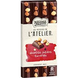 Nestlé Nestlé Chocolat Les Recettes de L'Atelier - Chocolat noir noisettes la tablette de 195 g