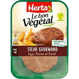 Herta Herta Le Bon Végétal - Steak gourmand poivre et persil la barquette de 2 - 160 g