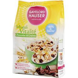 Gayelord Hauser Gayelord Hauser Muesli Vitalité chocolat & graines le sachet de 375 g